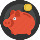 bank, coin, money, piggy, piggy bank, saving, savings icon