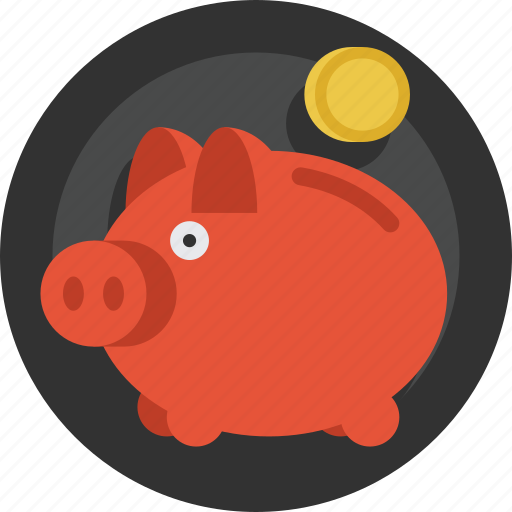 bank, coin, money, piggy, piggy bank, saving, savings icon