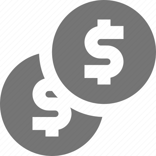 coins, dollar, money icon
