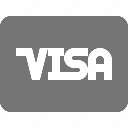 credit card, visa icon