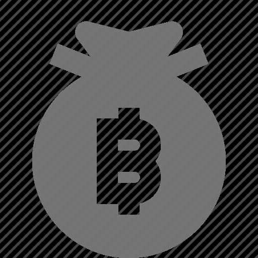 bag, bitcoin, money icon