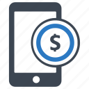 coin, m-banking, mbanking, mobile, mobile banking, money, online payment icon