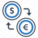 currency, currency conversion, currency exchange, dollar, foreign exchange, money conversion, money exchange icon