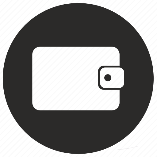 label, money, round, wallet icon