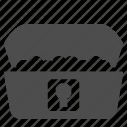 box, chest, finance, lockbox, money, security, treasure icon