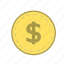 cash, coin, coins, finance, money, payment, shopping icon