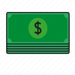 dollar, notes icon
