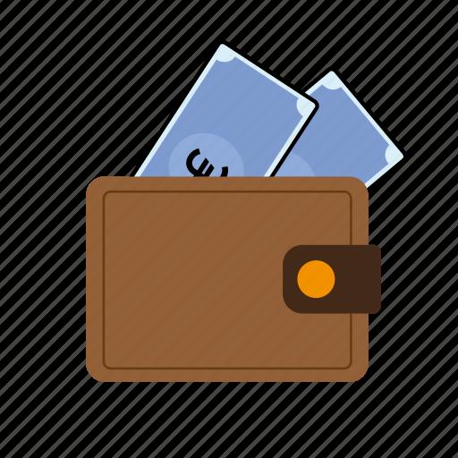 euro, wallet icon