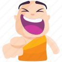 emoji, emoticon, laugh, monk, smiley, sticker icon