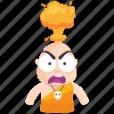 angry, emoji, emoticon, mindblown, monk, smiley, sticker icon