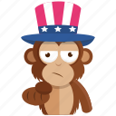 army, choose, emoji, emoticon, monkey, sticker, want icon