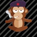 emoji, emoticon, monkey, smoking, sticker icon