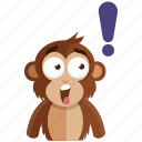emoji, emoticon, monkey, sticker, surprise icon