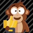 emoji, emoticon, like, monkey, social, sticker, trophy icon