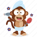 emoji, beauty, monkey, emoticon, wellness, sticker, spa icon