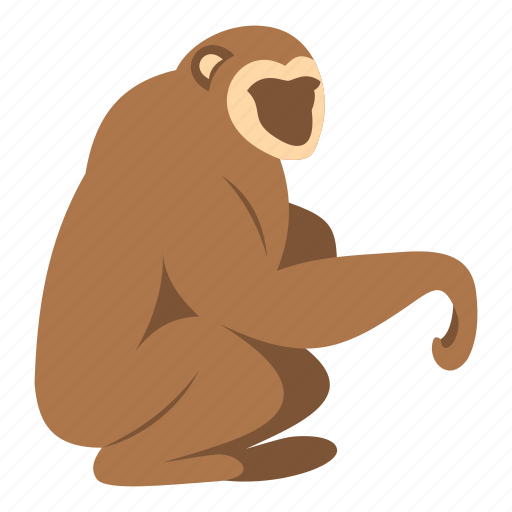 animal, mammal, monkey, nature, primate, sitting, wildlife icon