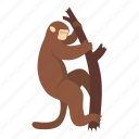 animal, macaque, mammal, monkey, nature, primate, wildlife icon
