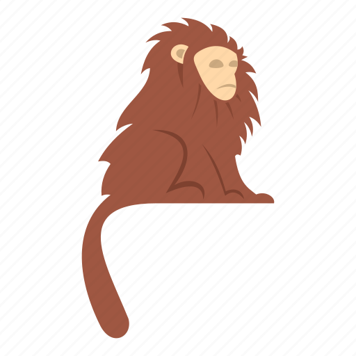 Animal, brown, hair, hairy, long, monkey, primate icon - Download on Iconfinder