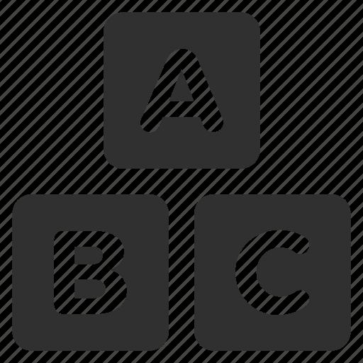 abc, basics, blocks, cubes, game blocks, games, toys icon