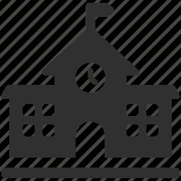 building, college, education, school, school building, university icon
