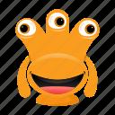 alien, avatar, beast, cartoon, funny, halloween, monster, spooky icon