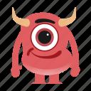 avatar, cartoon, creature, devil, halloween, monster, spooky icon