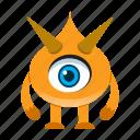 avatar, cartoon, comic, devil, halloween, monster, spooky icon