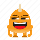 beast, cartoon, comic, creature, devil, halloween, monster, spooky icon
