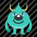 avatar, cartoon, devil, halloween, horn, monster, spooky icon