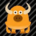 avatar, cartoon, halloween, horn, monster, spooky icon