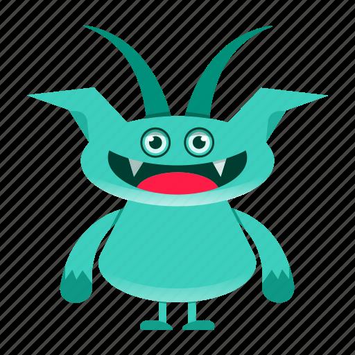 alien, beast, cartoon, creature, cute, devil, halloween, monster icon