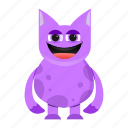 beast, cartoon, creature, cute, halloween, monster, smile icon