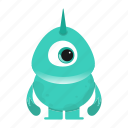 alien, avatar, beast, creature, cute, horn, monster