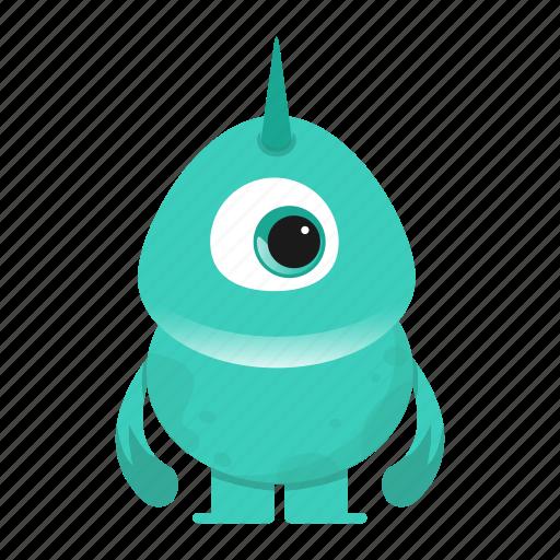 alien, avatar, beast, creature, cute, horn, monster icon