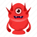 alien, avatar, beast, creature, cute, devil, halloween, horn, monster icon
