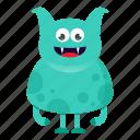 alien, avatar, beast, cartoon, creature, cute, devil, halloween, monster, smile icon