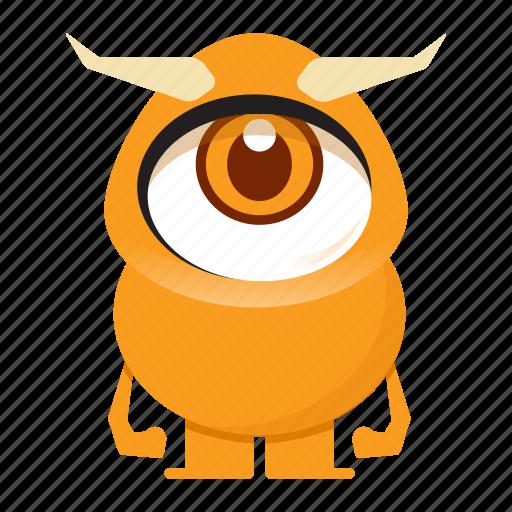alien, avatar, beast, cartoon, creature, eye, halloween, horn, monster icon