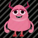 alien, avatar, beast, cartoon, cute, devil, halloween, monster icon