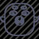 brain, character, creature, leaf, mascot, ninja icon