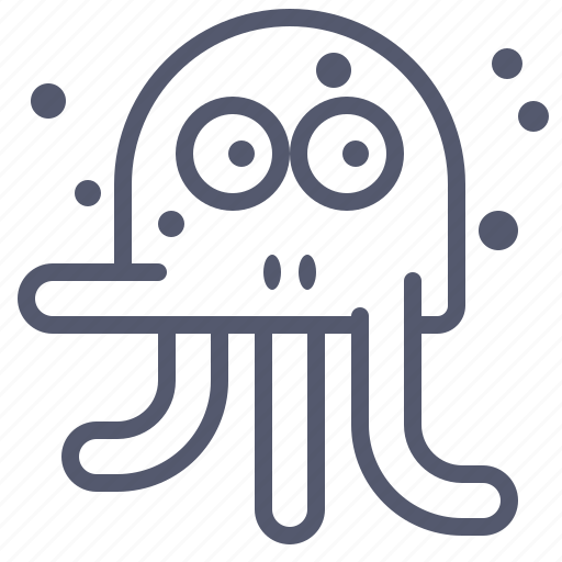 character, creature, mascot, octopus, stressed icon