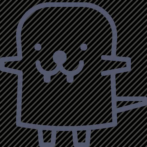 character, dino, happy, teeth icon