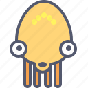 alien, character, mascot, octopus, robot icon