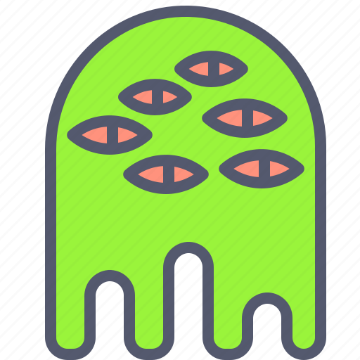 alien, character, creature, eyes, mascot icon