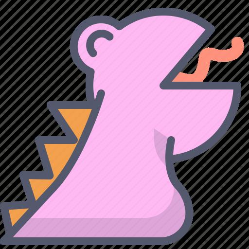 character, creature, dino, dinosaur, mascot icon