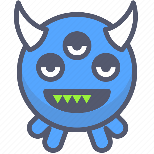 character, creature, evil, eyes, mascot icon