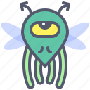 character, creature, fly, mascot, minion icon