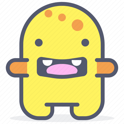 character, creature, forced, mascot, sea, smile icon