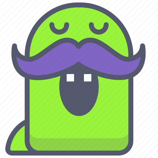 character, creature, hipster, mascot icon