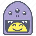 character, creature, mascot, smile, swallowed icon