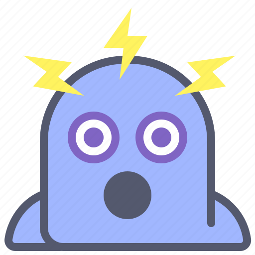 character, creature, electric, mascot, thunder icon